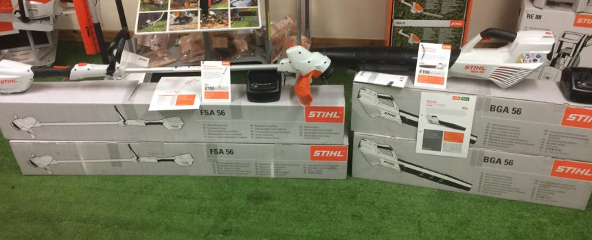 Stihl'ss new Compact Cordless range in stock now.